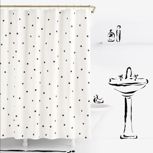 NWOT Kate Spade Shower Curtain: deco dot